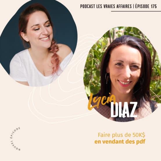 Vendre des formations en pdf avec Lycia Diaz